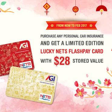 Purchase any personal car insurance and get a limited edition lucky nets flashpay card with $28 stored value.