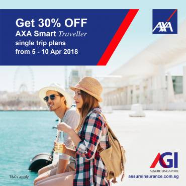 AXA Smart Traveller Promotion from 5-10 Apr 2018