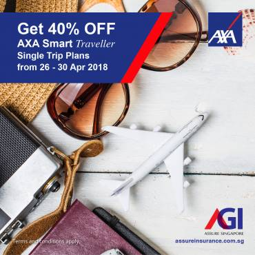 AXA Smart Traveller Promotion from 26-30 Apr 2018