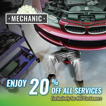 Enjoy 20% OFF all services at The Mechanic