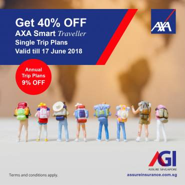 AXA SmartTraveller Promotion from 01-17 June 2018