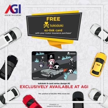 Get a exclusive ez-link card with your motor insurance purchase