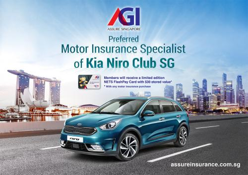 Proud to be the preferred Motor Insurance Specialist of Kia Niro Club SG