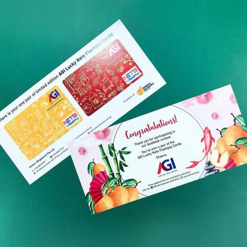 Congratulations to all 38 winners for AGI Lucky FlashPay Card giveaway contest!